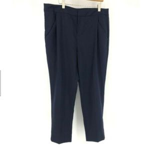 Everlane Blue Trouser Pants Size 10 Pleated 100% W
